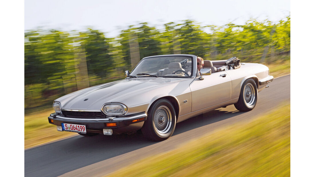 Jaguar XJ-S Cabrio, Seitenansicht