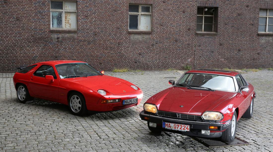 Jaguar XJ-S, Porsche 928 GT, Frontansicht