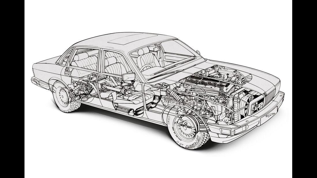 Jaguar XJ6 4.0, Durchsicht