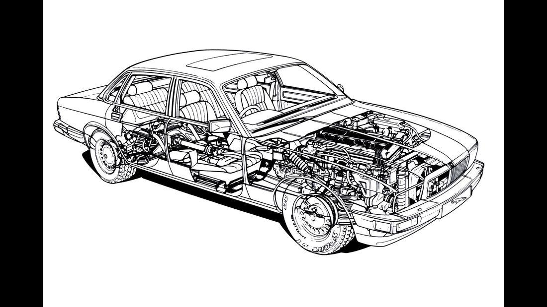 Jaguar XJ6 4.0, Seitenansicht
