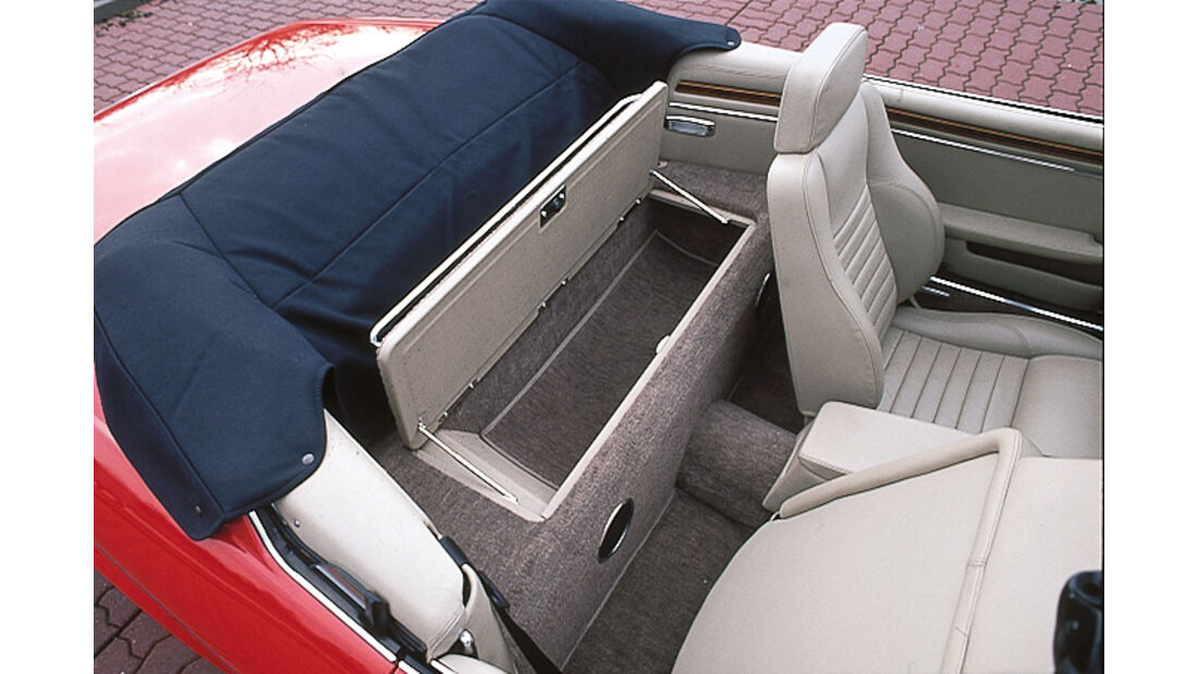 Jaguar XJS Cabrio, Schatulle, Rückbank