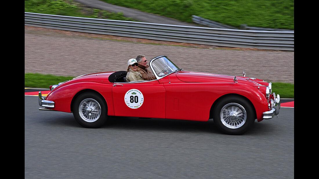 Jaguar XK 150 OTS bei der Sachsen Classic 2010