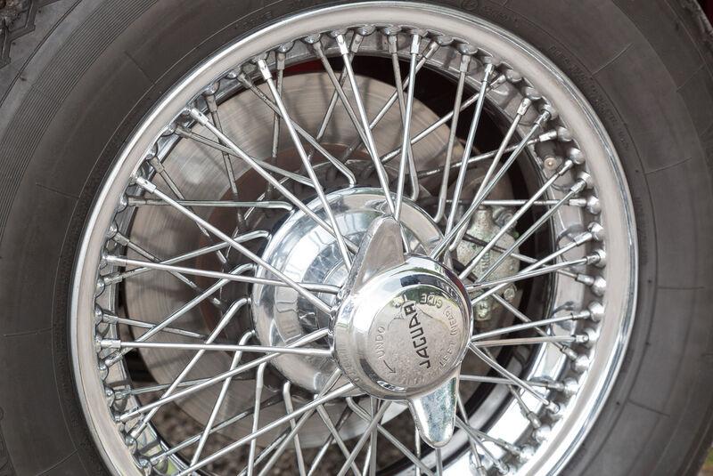 Jaguar XK 150, Rad, Felge