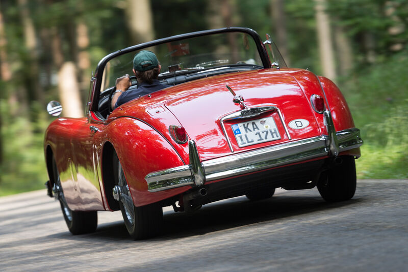 Jaguar XK 150 S OTS, Heckansicht