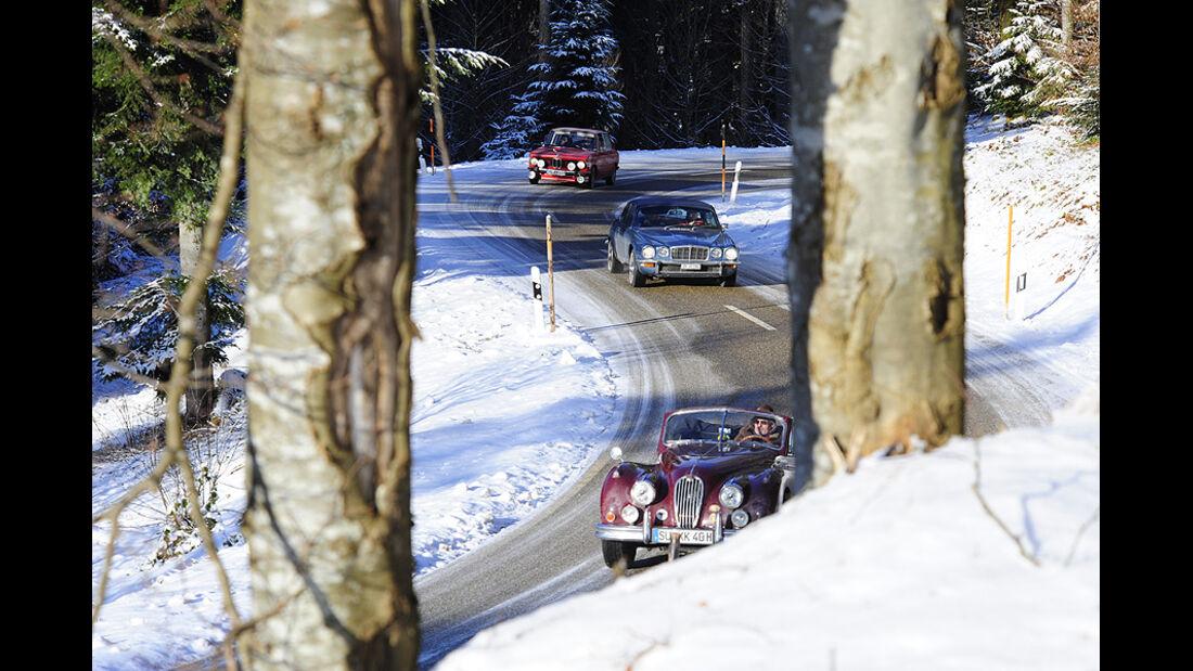 Jaguar XK, Jaguar XJ und BMW 2002