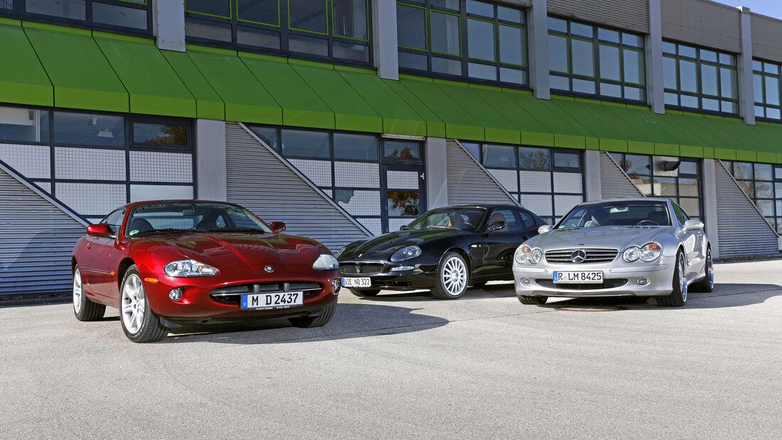 Jaguar XK8 Coupé, Maserati Coupé Cambiocorsa, Mercedes-Benz SL 500, Exterieur
