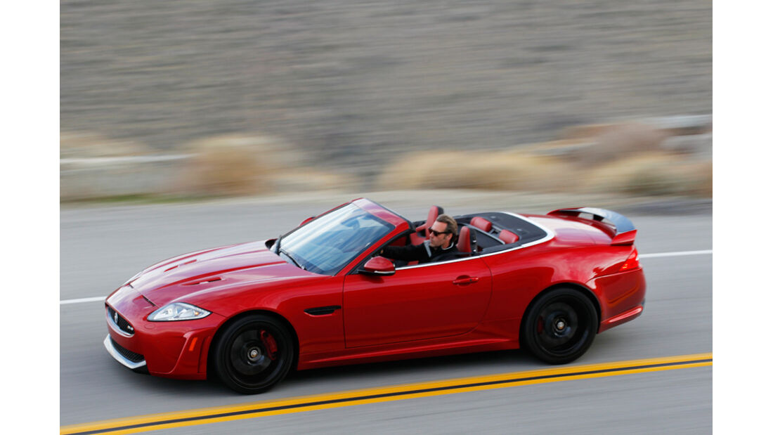 Jaguar XKR-S Cabriolet, Seitenansicht