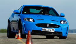 Jaguar XKR-S, Front, Slalom