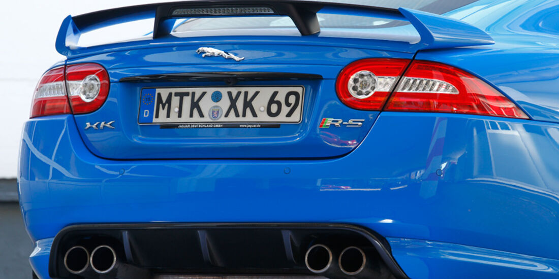 Jaguar XKR-S, Heck, Auspuff, Heckspoiler