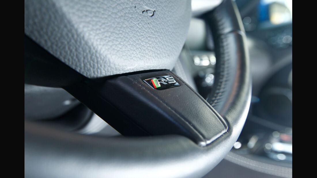 Jaguar XKR-S, Lenkrad, Detail, Emblem