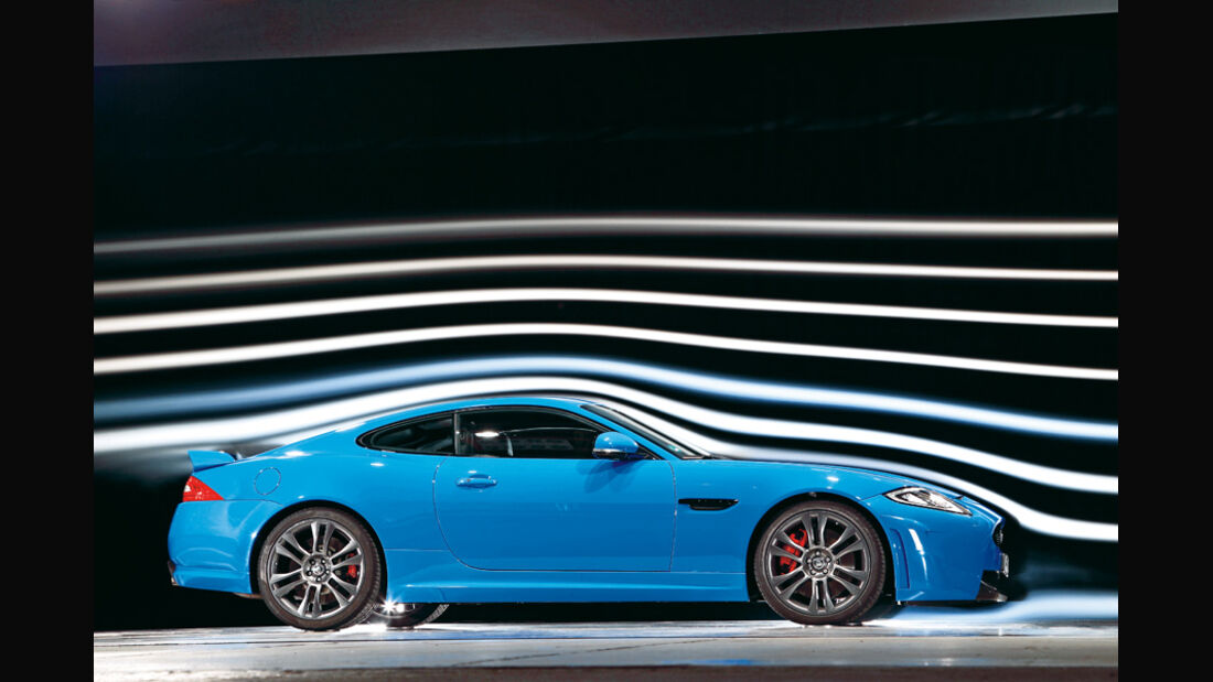 Jaguar XKR-S, Windkanal, Seitenansicht