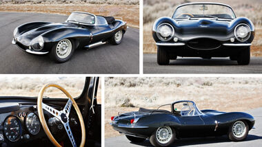 Jaguar XKSS Gooding and Company Auktion Collage