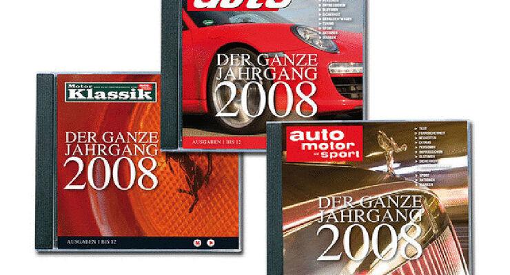 Jahrgangs CD 2008 auto motor und sport