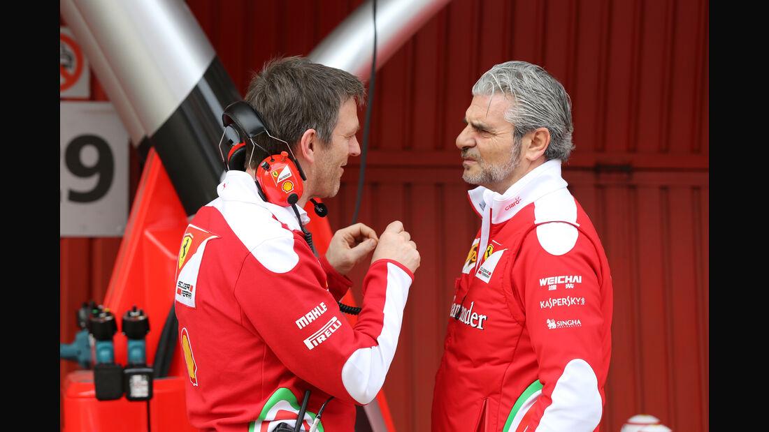 James Allison & Maurizio Arrivabene - Ferrari - Formel 1-Test - Barcelona - 24. Februar 2016