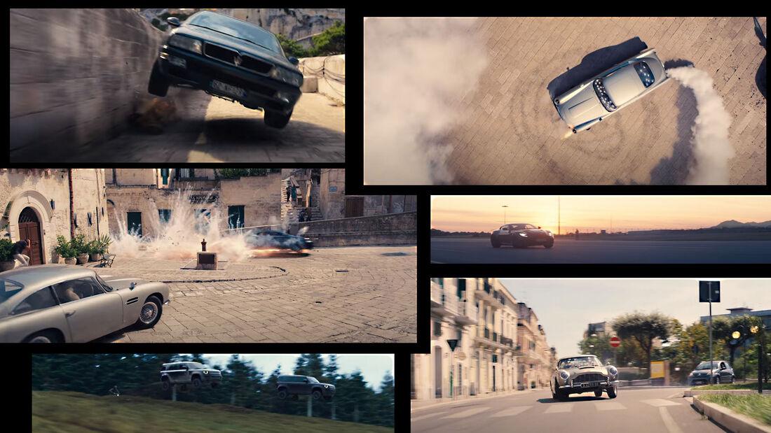 James Bond Keine Zeit zu sterben Autos Collage