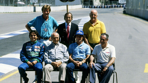 James Hunt - Jackie Stewart - Denny Hulme - Nelson Piquet - Juan Manuel Fangio - Ayrton Senna - Ayrton Senna - Jack Brabham - GP Australien 1990 - Adelaide
