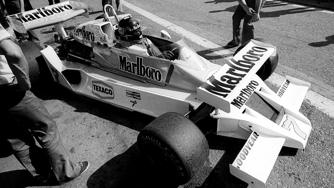 James Hunt - McLaren M26 - GP Soanien 1978