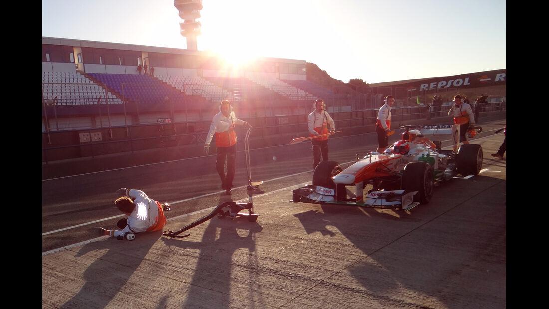 James Rossiter Force India F1 Test Jerez 2013 Highlights
