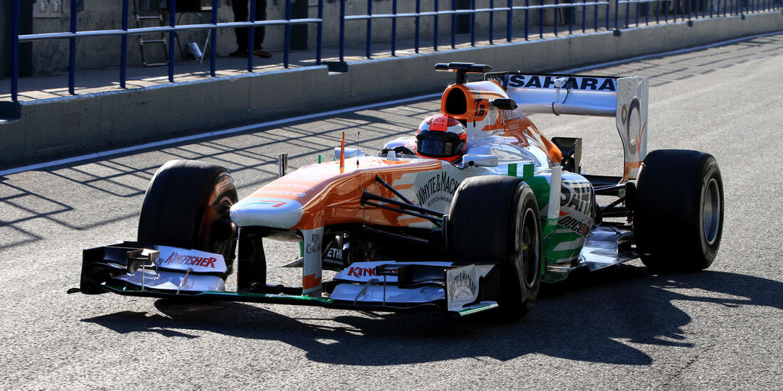 James Rossiter, Force India, Formel 1-Test, Jerez, 7.2.2013