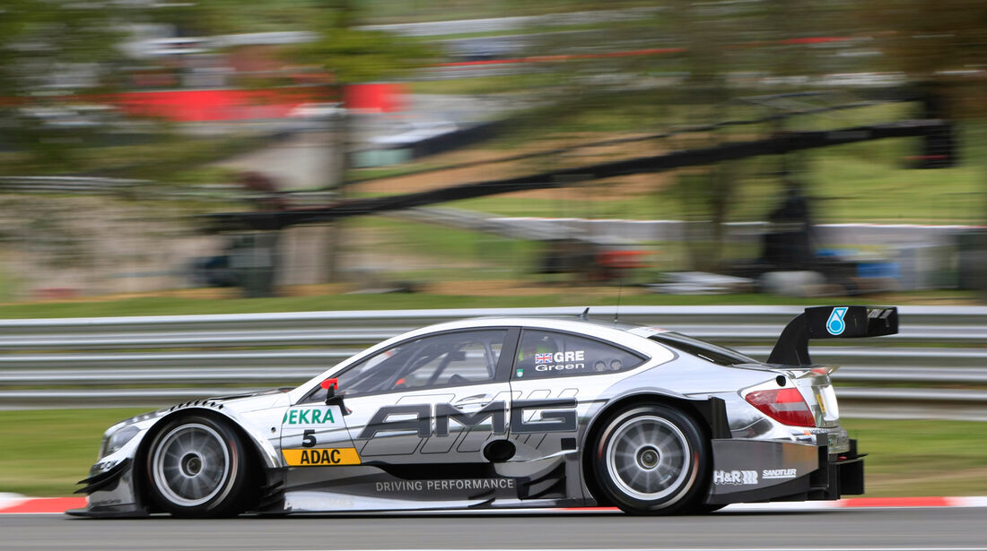 Jamie Green Mercedes DTM Brands Hatch 2012