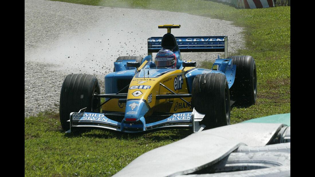 Jarno Trulli - Renault - GP Malaysia 2003