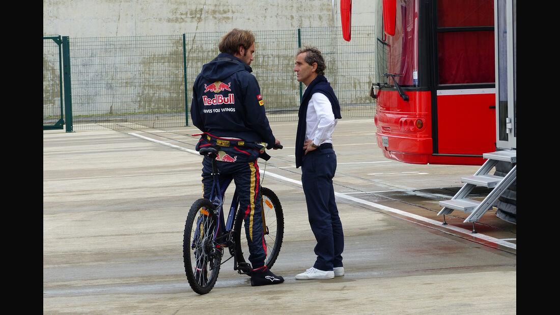 Jean-Eric Vergne & Alain Prost - Formel 1 - GP England - Silverstone - 5. Juli 2014