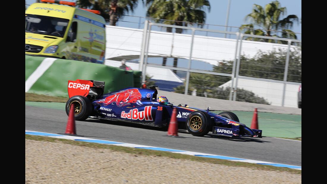 Jean-Eric Vergne - Toro Rosso - Formel 1 - Jerez - Test - 30. Januar