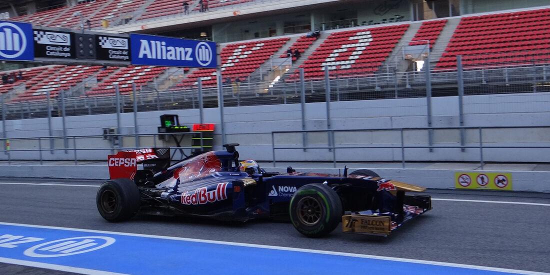 Jean-Eric Vergne - Toro Rosso - Formel 1 - Test - Barcelona - 2. März 2013