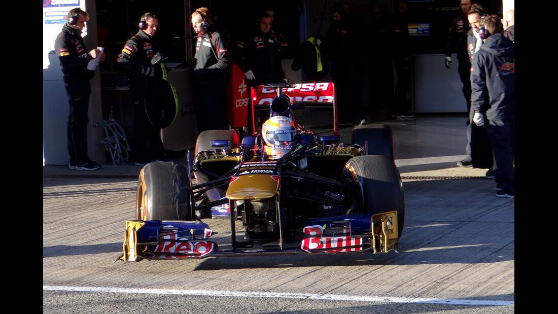 Jean-Eric Vergne - Toro Rosso - Formel 1 - Test - Jerez - 7. Februar 2013