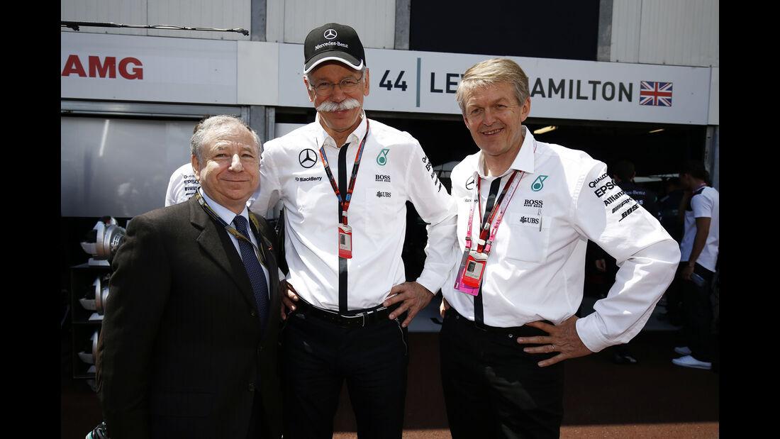 Jean Todt - Dieter Zetsche - Thomas Weber - Formel 1 - GP Monaco - Sonntag - 24. Mai 2015