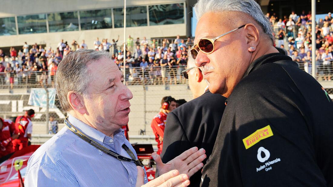 Jean Todt & Vijay Mallya - GP Abu Dhabi 2014