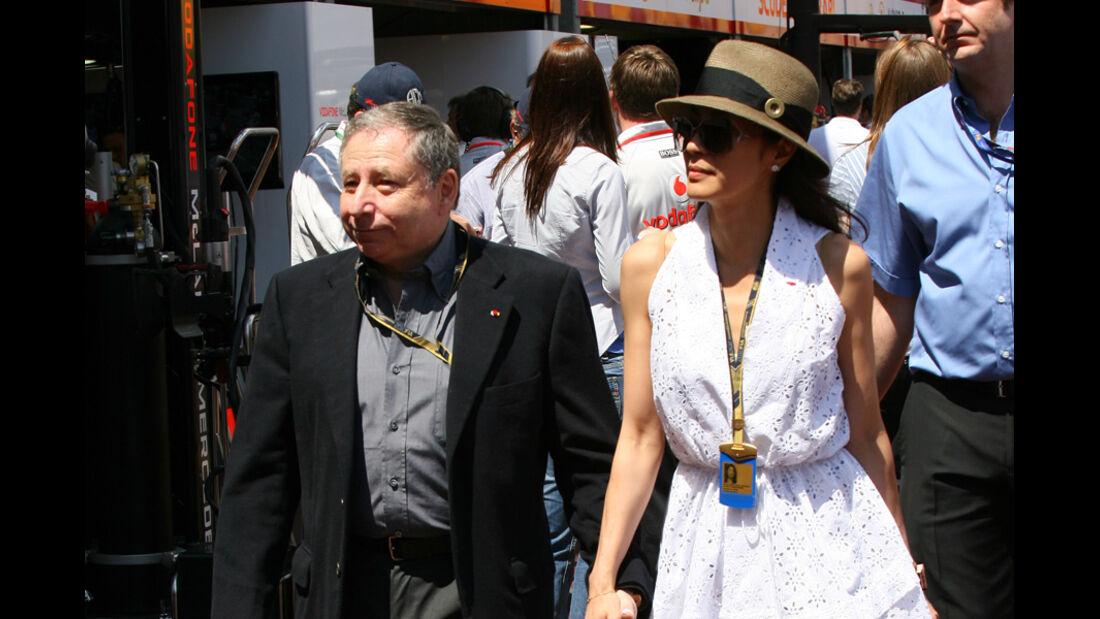 Jean Todt und Michelle Yeoh beim GP Monaco