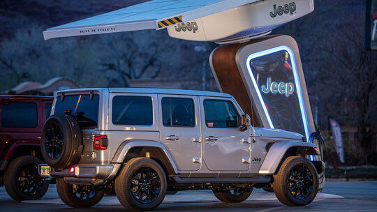 Jeep 4xe Ladenetzwerk für Offroad-Strecken