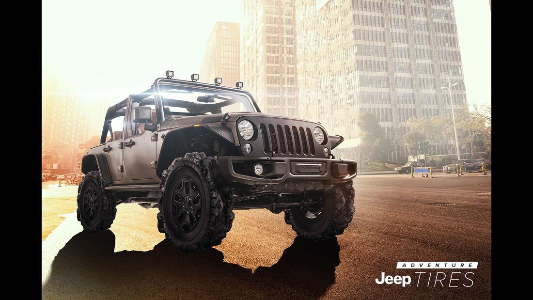 Jeep Adventure Tire Aprilscherz