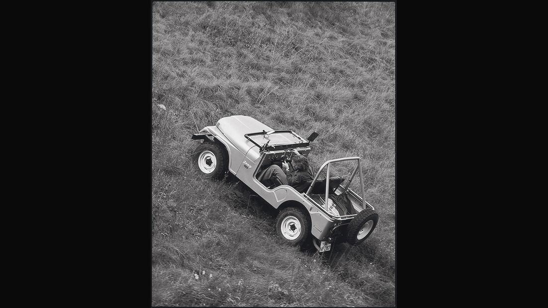 Jeep CJ, Gelände, Seitenansicht