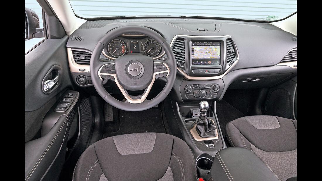 Jeep Cherokee 2.0 Multijet, Cockpit