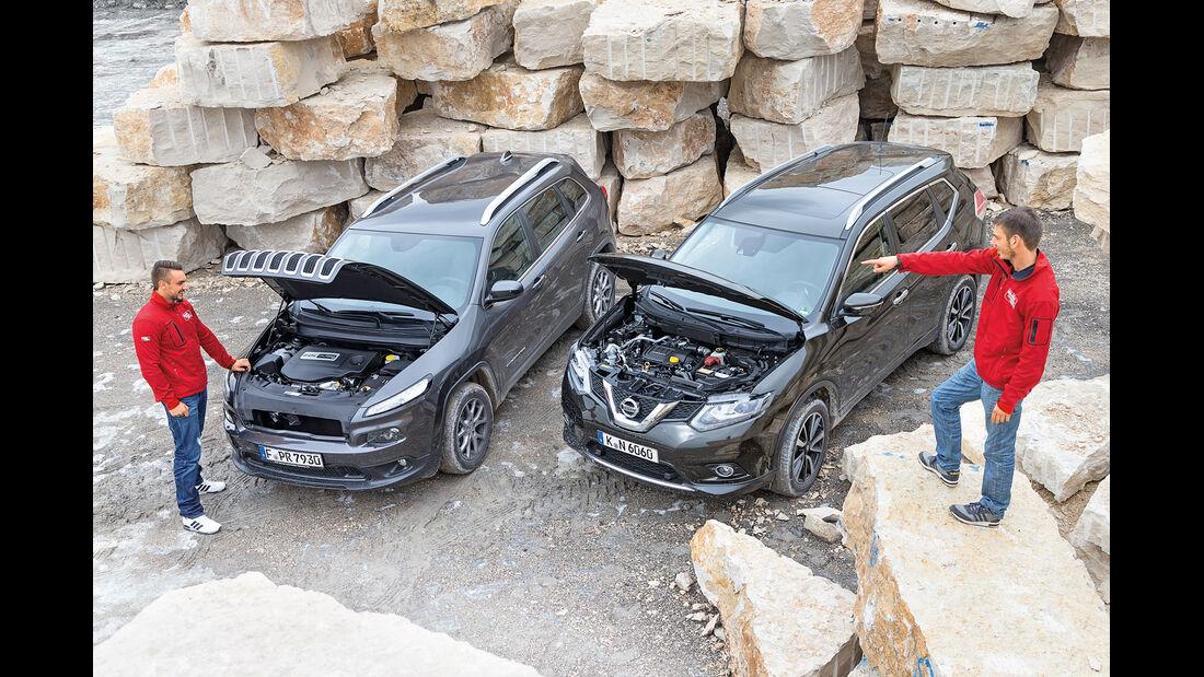 Jeep Cherokee 2.0 Multijet, Nissan X-Trail 1.6 dCi 4x4, Motor