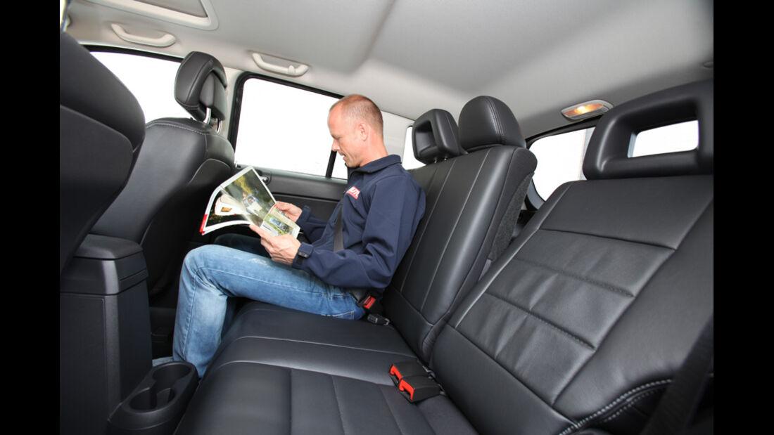 Jeep Compass 2.2 CRD Limited, Rücksitz, Rückbank, Christian Bangemann