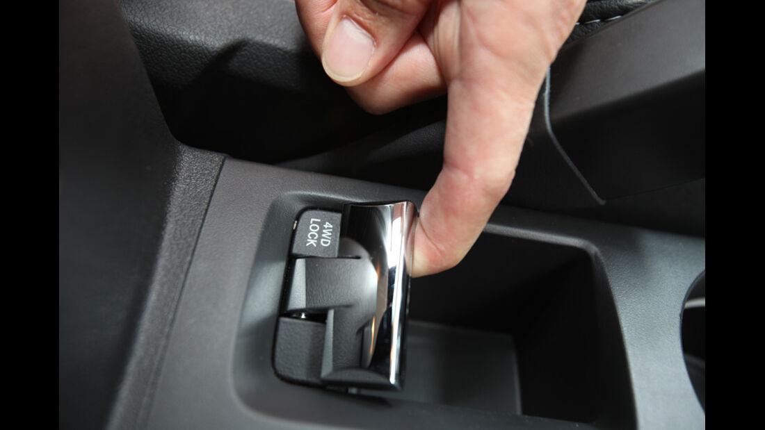 Jeep Compass 2.2 CRD Limited, Schalter, Hebel, Detail