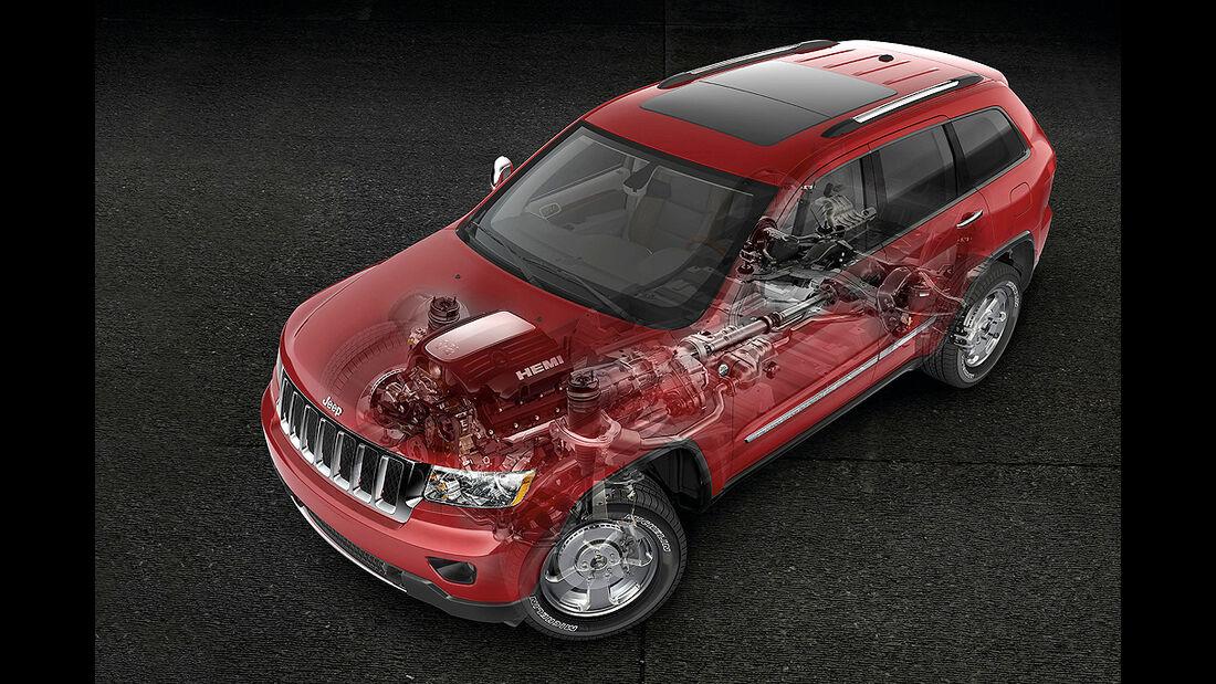 Jeep Grand Cherokee 3.6 V6, Untersetzungsgetriebe, Reduktion