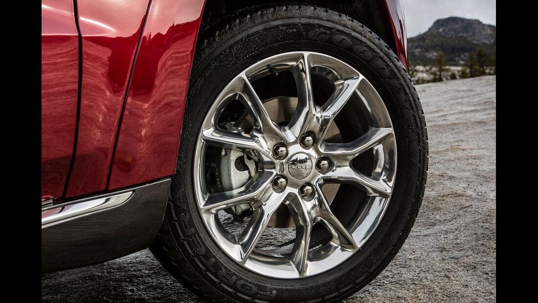 Jeep Grand Cherokee Facelift, Felgen