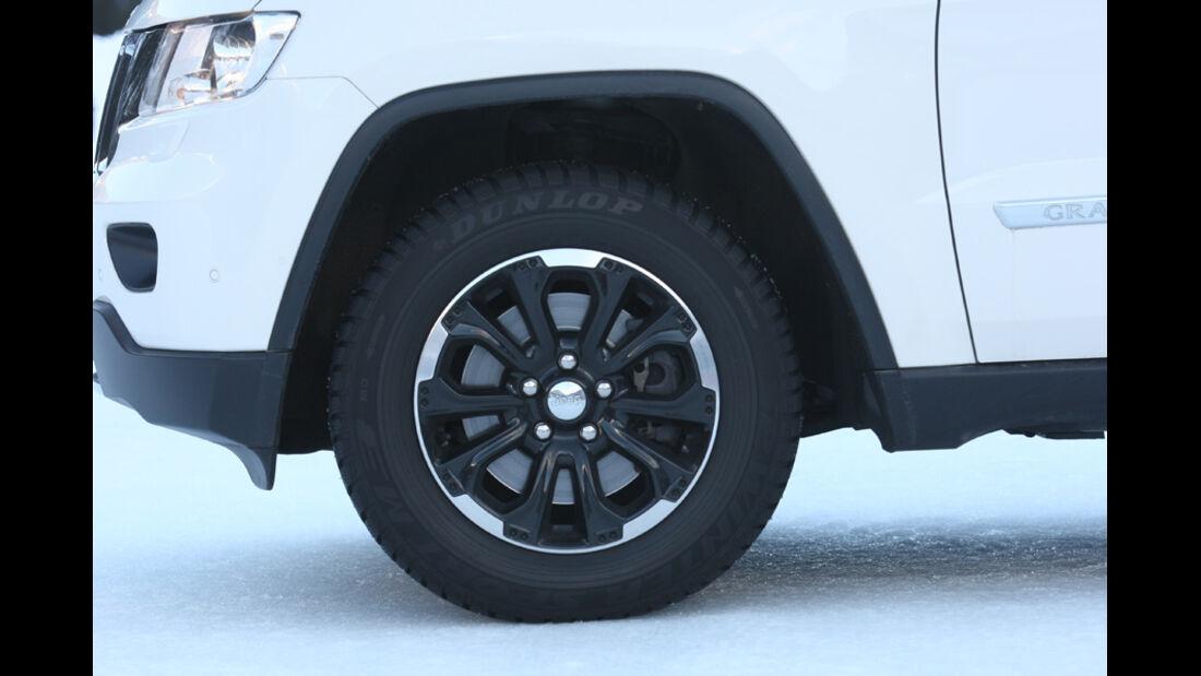 Jeep Grand Cherokee, Rad, Felge