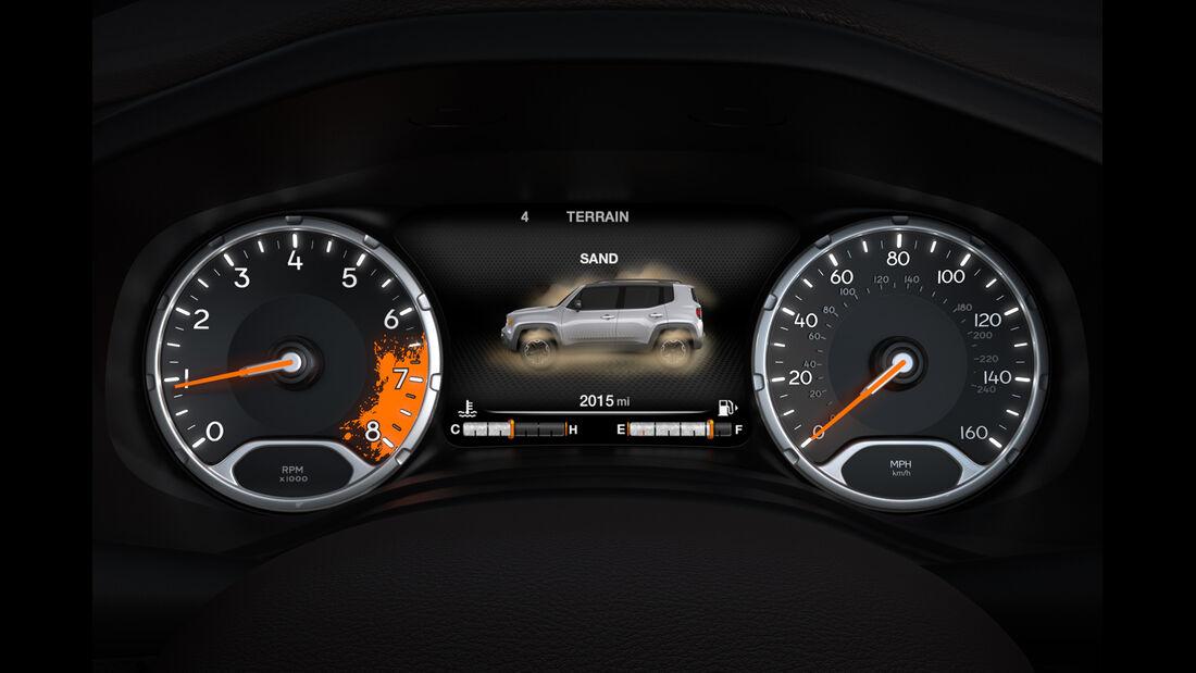 Jeep Renegade 2.0 Multijet, Rundinstrumente, Infotainment