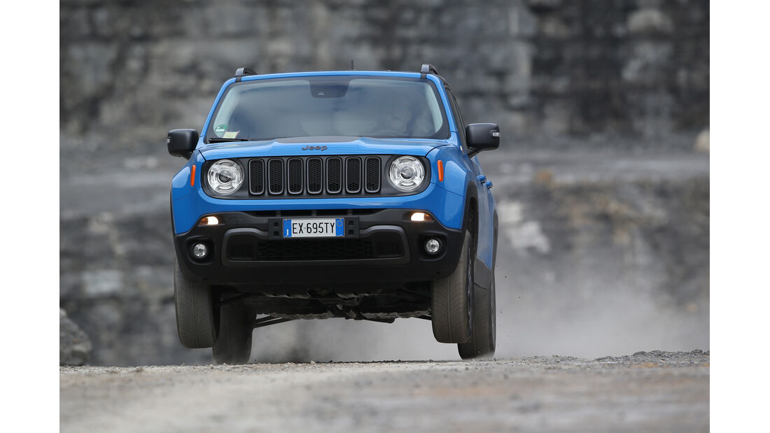 Jeep Renegade 2.0 Multijet Trailhawk, Frontansicht, Sprung