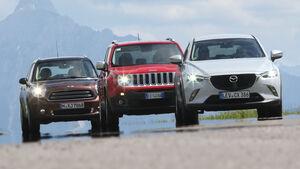 Jeep Renegade, Mazda CX-3, Mini Cooper Countryman