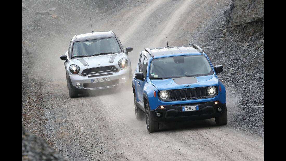 Jeep Renegade, Mini Countryman, Frontansicht