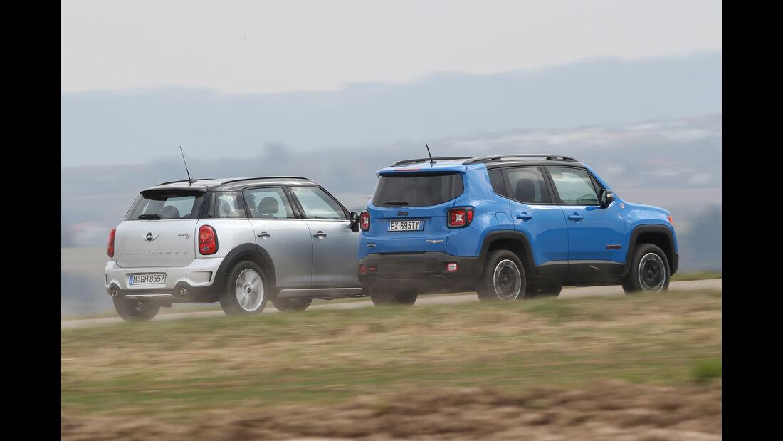 Jeep Renegade, Mini Countryman, Heckansicht