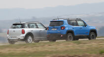 Jeep Renegade, Mini Countryman, Heckansicht