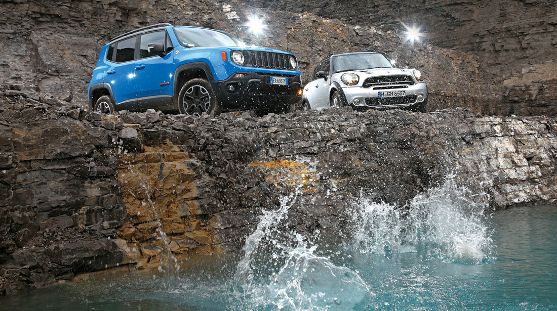 Jeep Renegade, Mini Countryman, Impression, Frontansicht