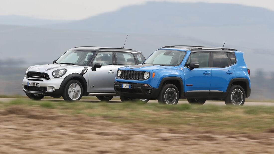 Jeep Renegade, Mini Countryman, Seitenansicht